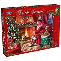 Holdson: 1000 Piece Puzzle - Tis The Season II (Santa By The Fire) image