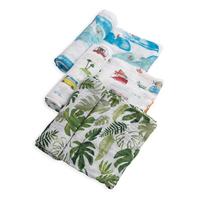 Little Unicorn: Cotton Muslin Swaddle - Summer Vibe (3 Pack)