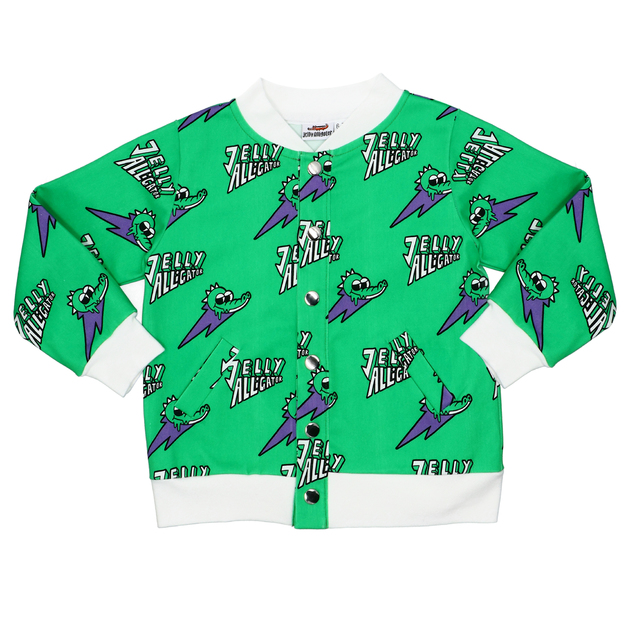 Jelly Alligator: Green Bomber Jacket - 4-5Y