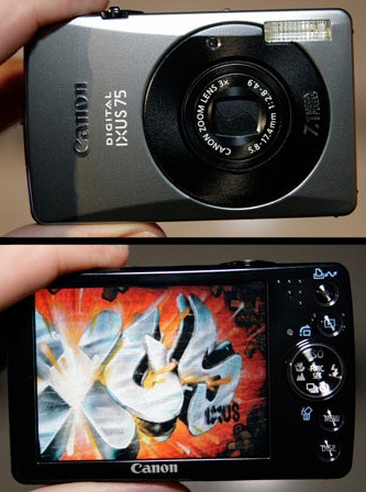 "Canon IXUS 75 7.1Mp 3x Optical Digital Camera 3"" LCD IXUS75"