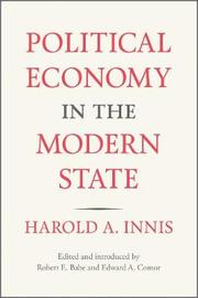 Political Economy in the Modern State by Harold Innis