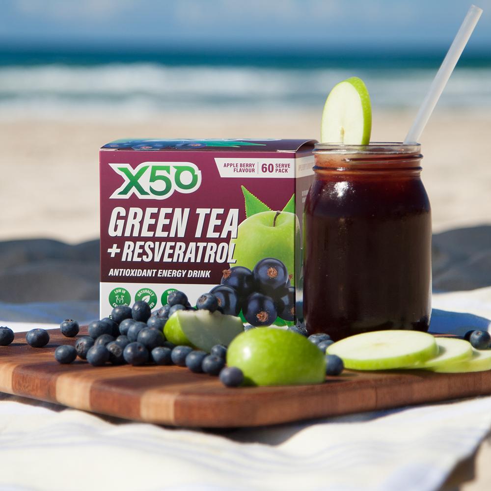Green Tea X50 + Resveratrol - Appleberry (60 sachets) image