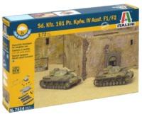 Italeri: 1/72 SD. KFZ 161 PZ.KPFW. IV F1/F2 - Fast Assembly Kit