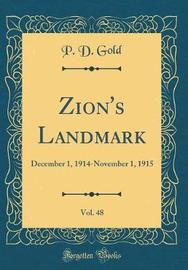 Zion's Landmark, Vol. 48 by P D Gold image
