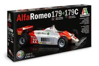 Italeri 1/8 Alfa Romeo 179/179C - Scale Model Kit