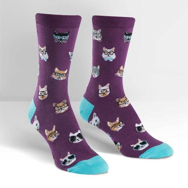 SOCK it to Me: Womens - Smarty Cats Crew Socks