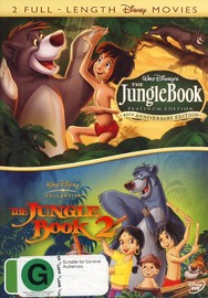 Jungle Book (1967) / Jungle Book 2 (2 Disc Set) on DVD image