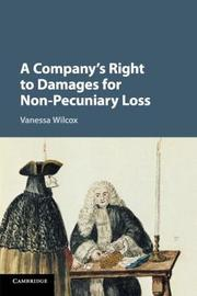 A Company's Right to Damages for Non-Pecuniary Loss by Vanessa Wilcox