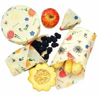 Buzzee Organic Beeswax Wraps - Bees At Work Multi (4 Pack)