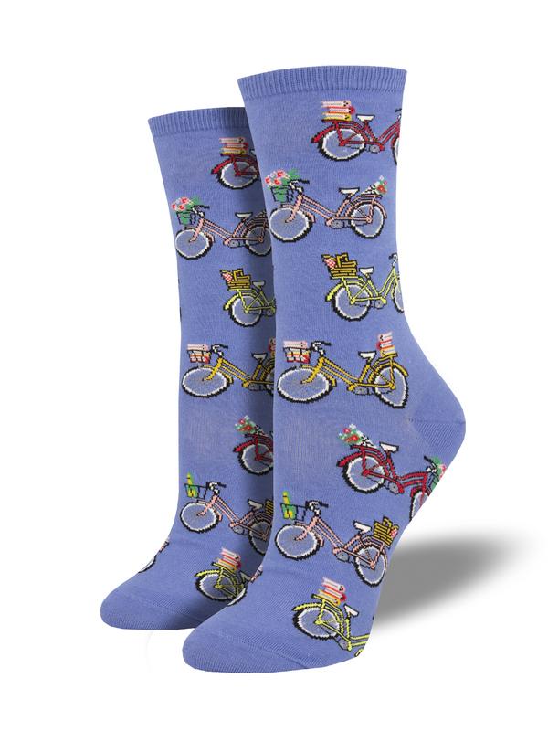 Socksmith: Vintage Bikes - Periwinkle