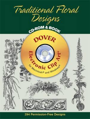 Traditional Floral Designs CD-Rom and Book by Dover image