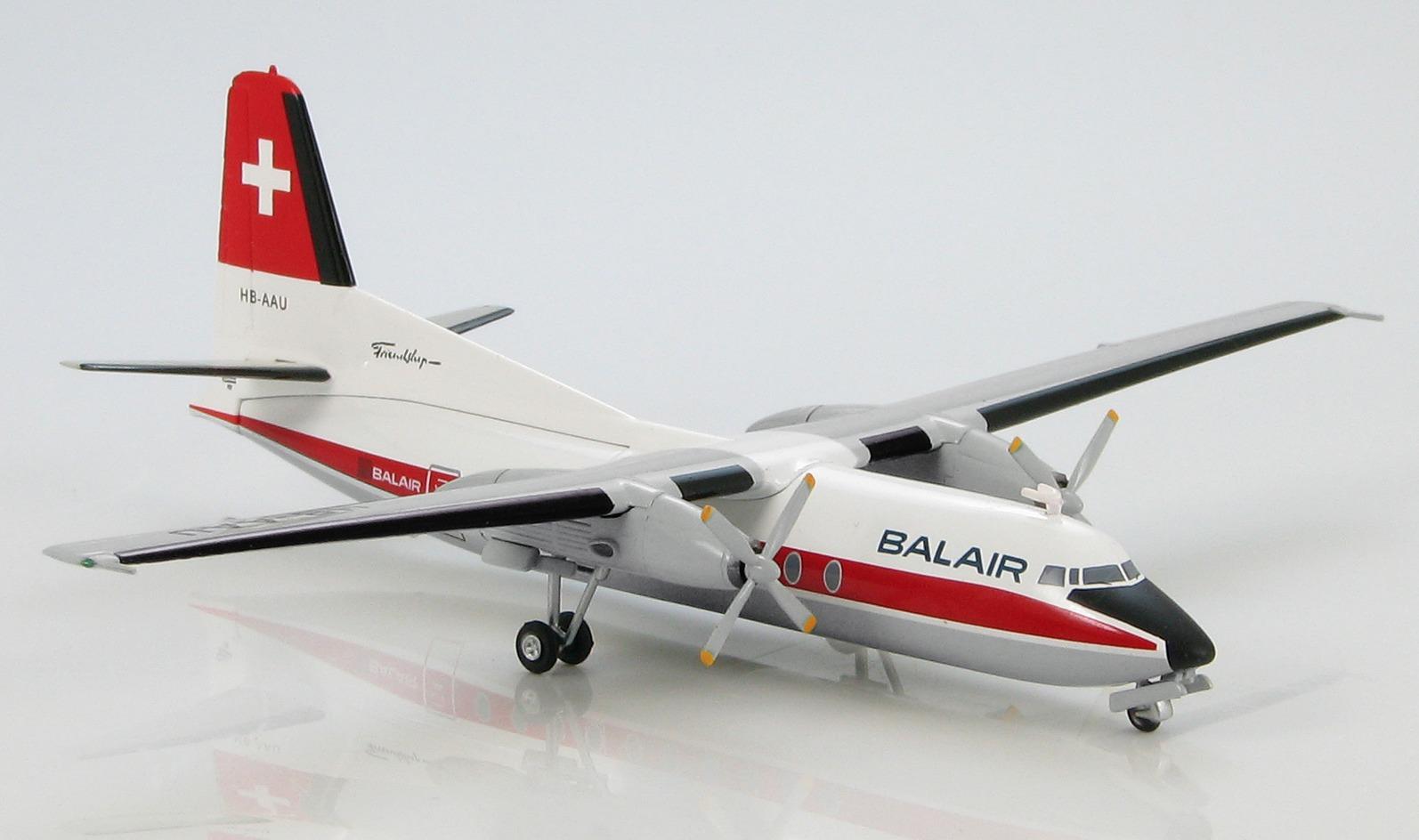 Fokker F-27 Friendship Balair HB-AUU 1/200 Diecast Model image