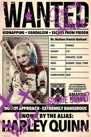 Suicide Squad Poster - Harley Quinn Wanted (537) image
