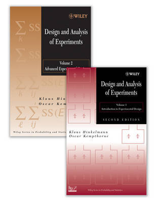 Design and Analysis of Experiments Set by Klaus Hinkelmann