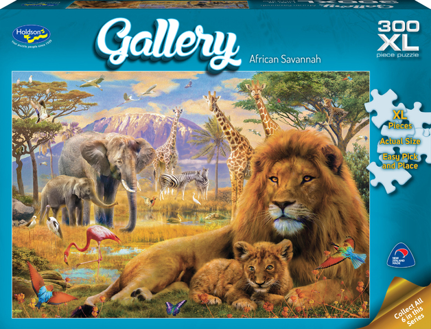 Holdson XL: 300 Piece Puzzle - Gallery (African Savannah)