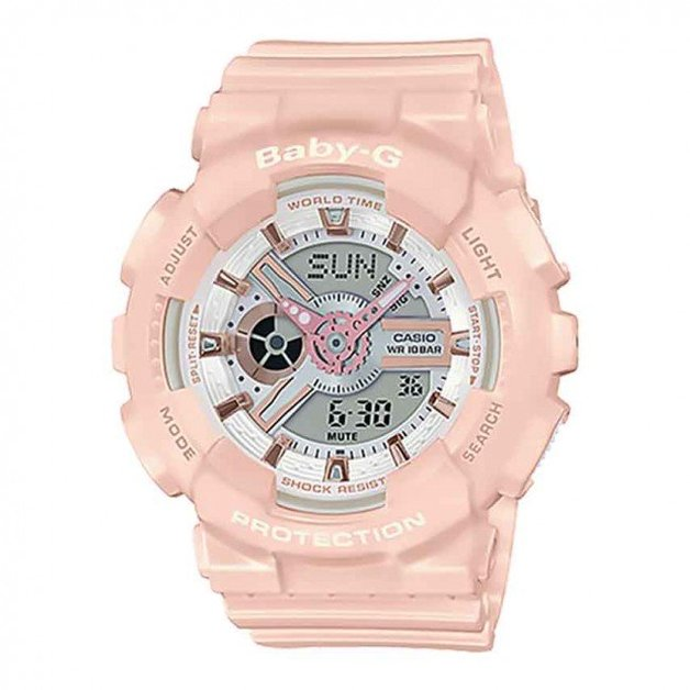 Casio BABY-G Pink Gold Watch BA110RG-4A - Light Pink