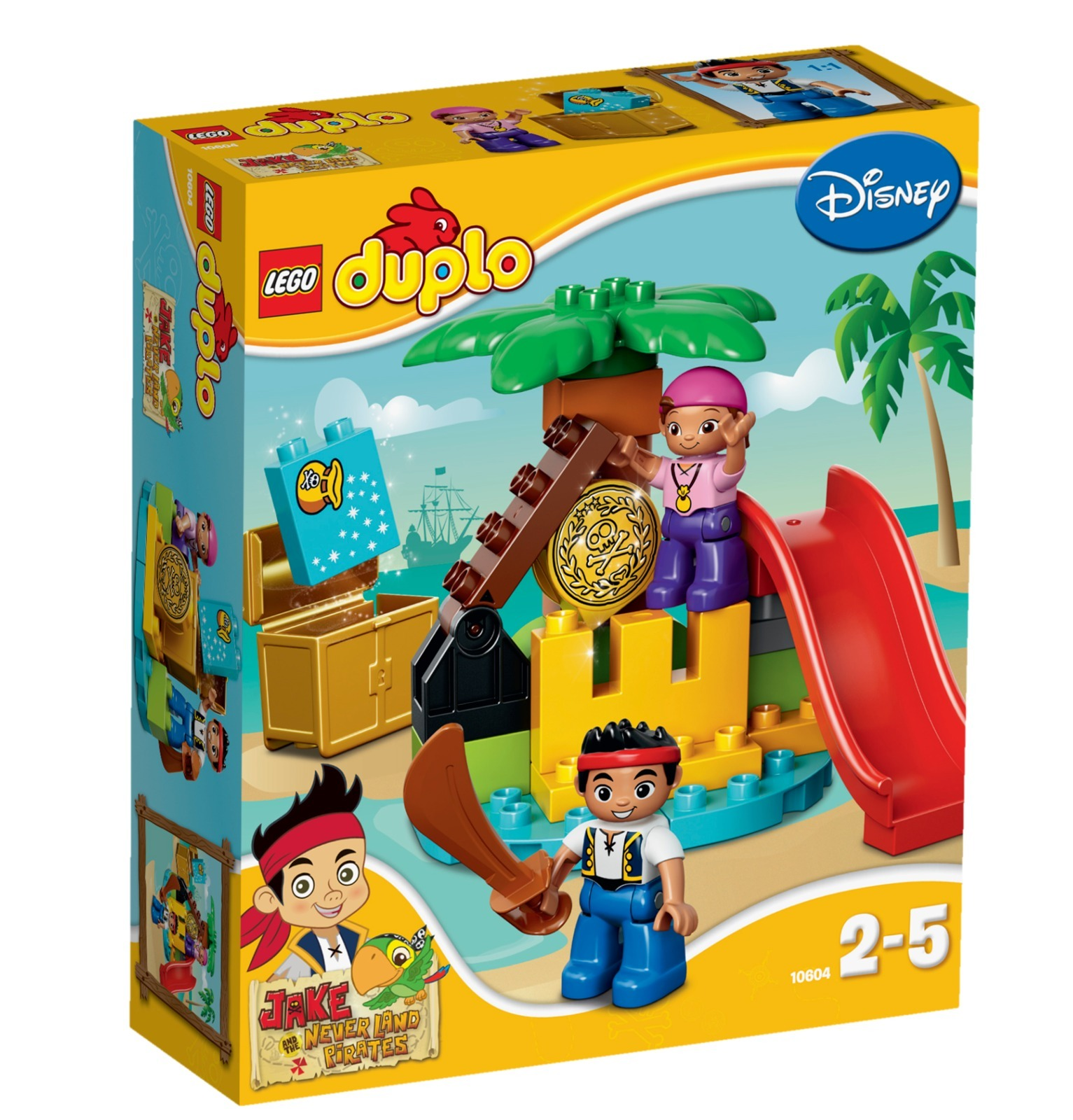 Toy Pirate Lego : Lego duplo jake and the never land pirates treasure