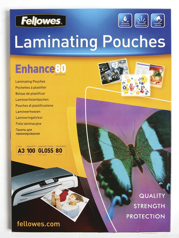 Fellowes Laminating Pouches - A3 - 80 Micron Pack 100