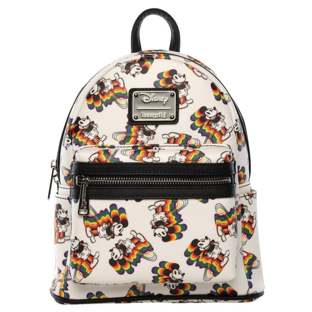 Loungefly: Mickey Mouse - Mickey Rainbow Print Mini Backpack