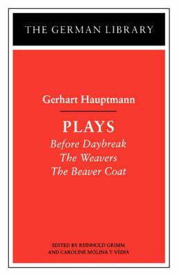 Hauptmann Plays by Gerhart Hauptmann image