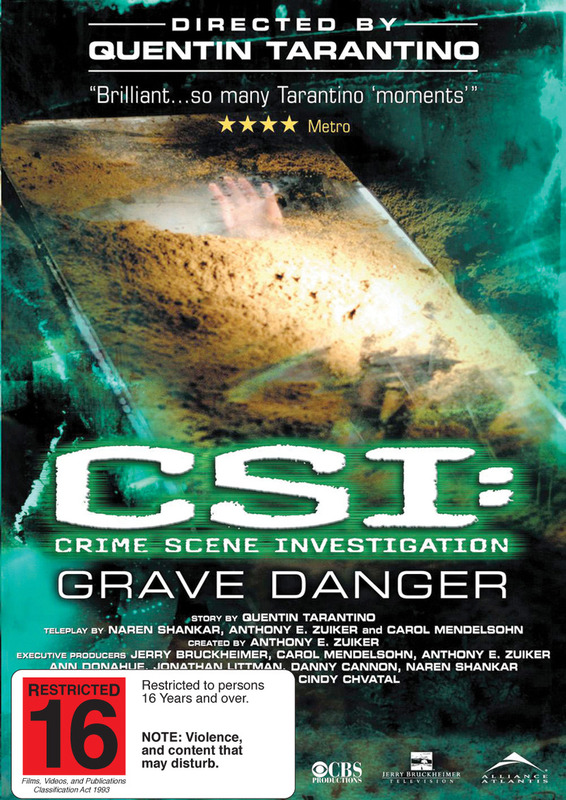 CSI - Grave Danger on DVD