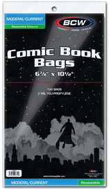 """BCW: Resealable Comic Bags - Current (6.87"""" x 10.5"""") image"""