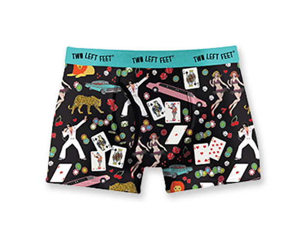Two Left Feet: Vegas Baby Mens Underwear - Large