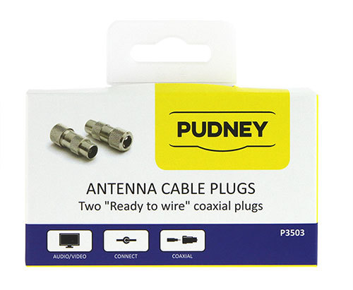 Pudney: Coaxial Plugs RG59 Metal - Pack 2