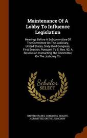 Maintenance of a Lobby to Influence Legislation image