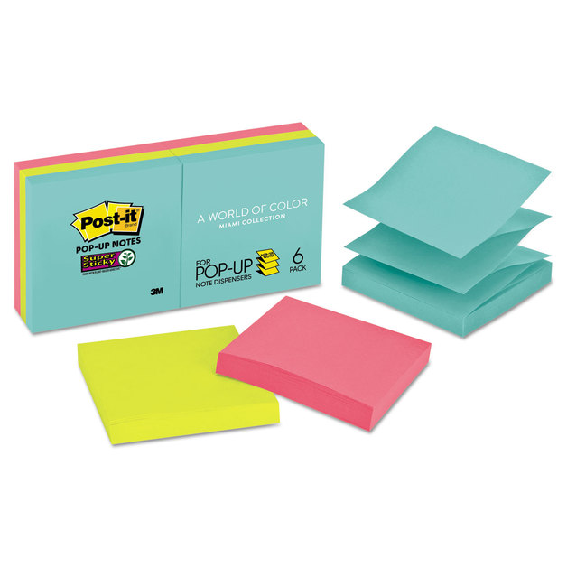 Post-it: Pop Up Note Refill - Miami Collection (6 Pack)