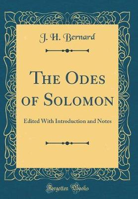 The Odes of Solomon by J.H. Bernard image