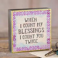 Natural Life: Tiny Block Keepsake - Count Blessings