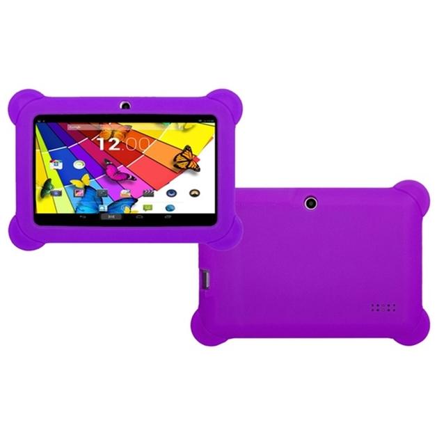 "7"" QuadCore Kids Android Tablet & Case - Purple"