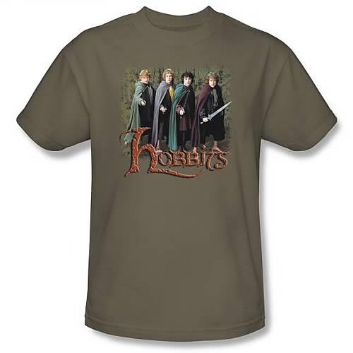 Lord of the Rings: Hobbits Green T-Shirt - Medium