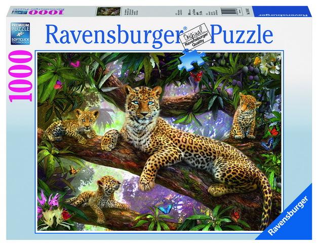 Ravensburger Leopard Family Puzzle (1000pc)