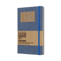 Moleskine: 2019 Large Denim Collection 12-Month Weekly Notebook Planner