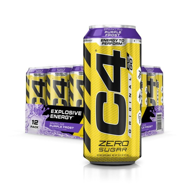 Cellucor: C4 Carbonated On-The-Go RTD - Purple Frost (473ml) 12pk