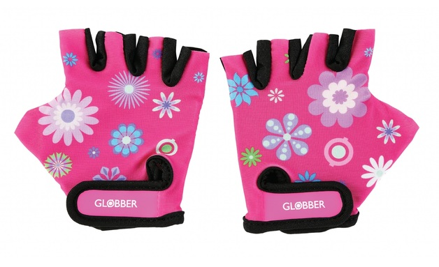 Globber: Protective Gloves - Toddler XS (Flowers Pink)