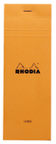 Bloc Rhodia Orange Shopping 80 Lined Sheets