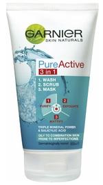 Garnier Pure Active 3 in 1 Wash, Scrub & Mask (150ml)