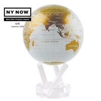 MOVA: Self Rotating Globe - White and Gold (11.5cm)