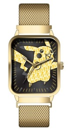 Pokemon: Pikachu - Gold Mesh Watch
