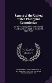 Report of the United States Philippine Commission image