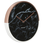 Karlsson Wall Clock - 'Marble Delight' (Copper/Black)