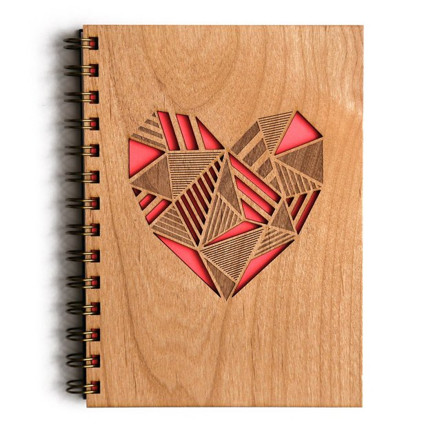 Cardtorial Wooden Journal - Heart