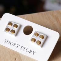 Short Story: Funky Play Earrings - Silver Lego