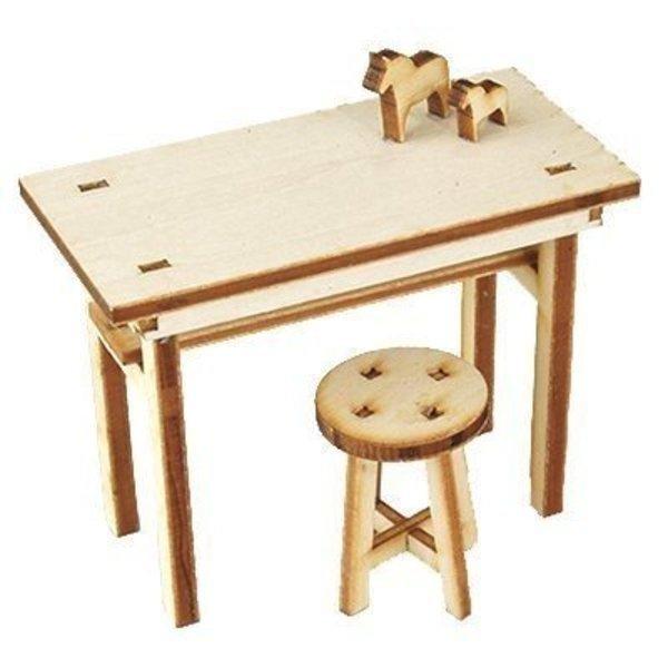 1/12 European Table & Round Chair