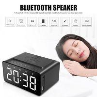 Wireless Charging Bluetooth Speaker Clock LED Alarm Clock