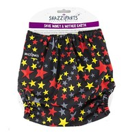 Snazzipants Reusable Nappy Pull Cover - Black Star