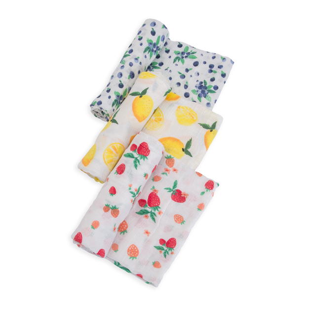 Little Unicorn - Cotton Muslin Swaddle - Berry Lemonade (3 Pack)